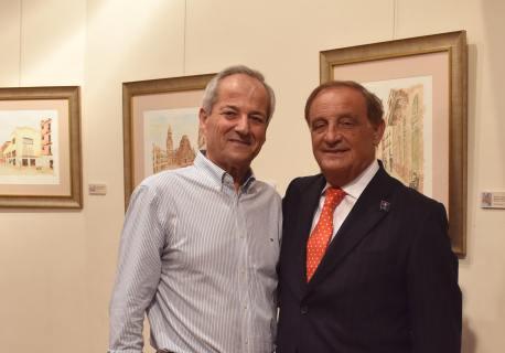 18 El pintor Antonio Aráez y D Ricardo Martínez