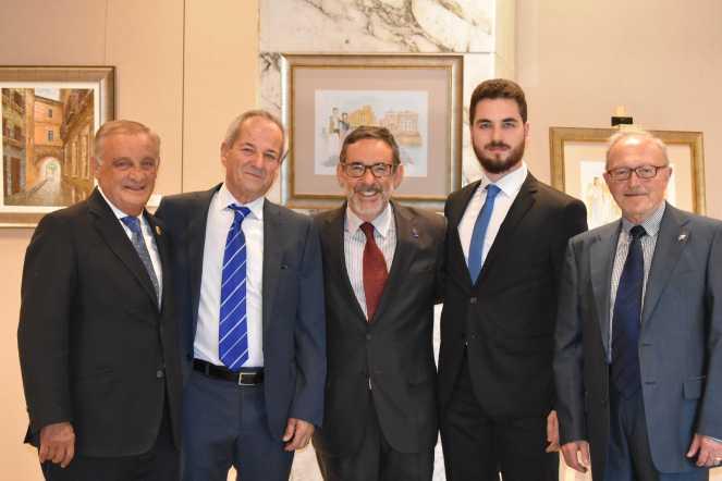 19 D. Ricardo Martinez, el pintor Antonio Araez García, D. Francisco Jimenez, d. Antonio Araez Moreno y D. Domingo